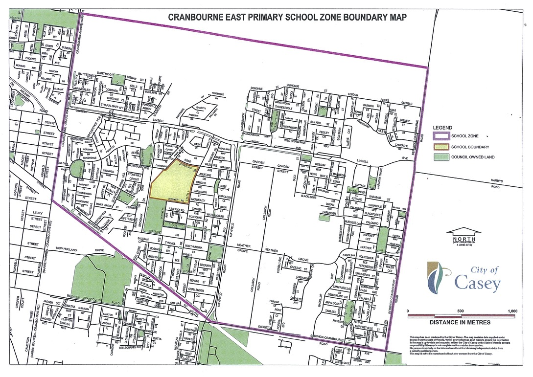 Cranbourne Boundary Map